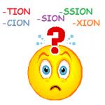 PALABRAS TERMINADAS EN –TION, -SION, -SSION, -CION Y XION