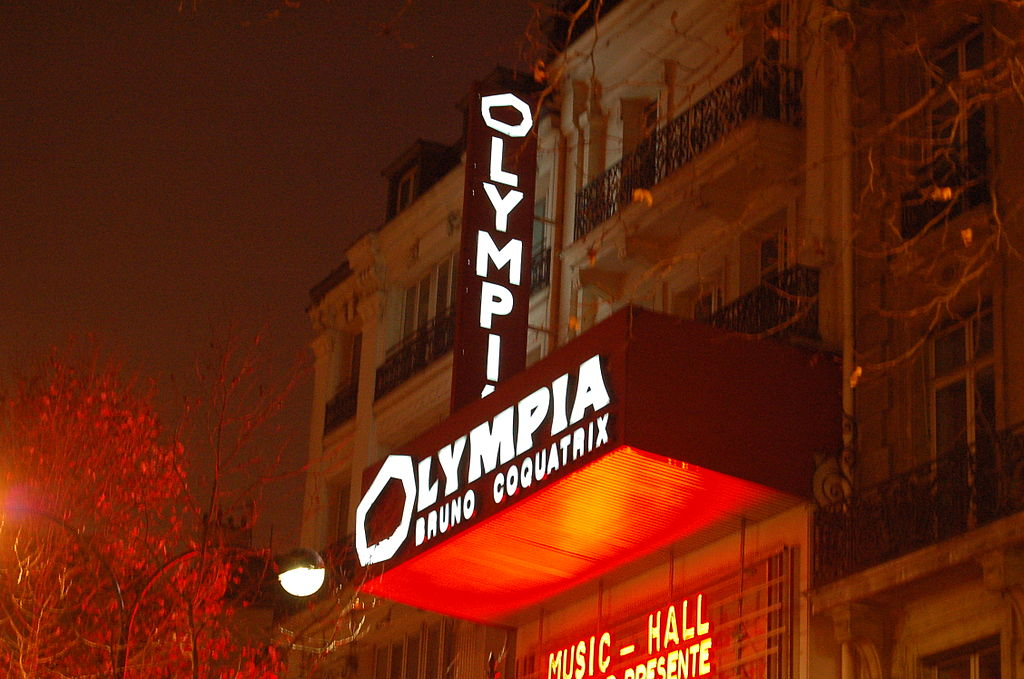 LA OLYMPIA BRUNO COQUATRIX EN PARIS