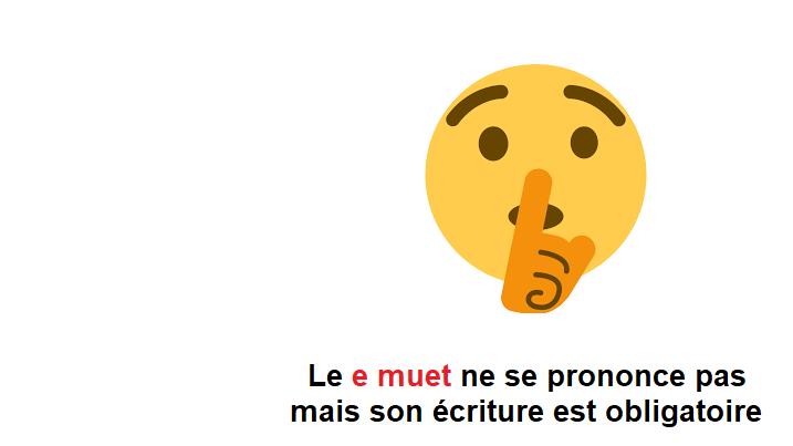 """LA """"E"""" MUDA EN FRANCÉS"""