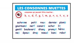 LAS CONSONANTES MUDAS EN FRANCÉS